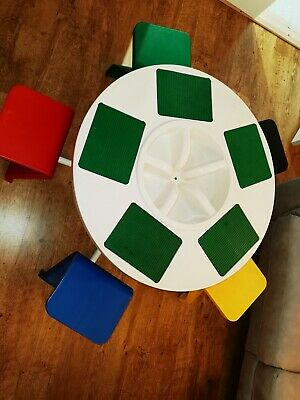 5 Seat Children's Official Lego / Duplo Play Table Chairs Baseplates **Rare** • 175£