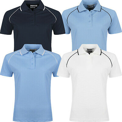 New Womens Polo Shirts Ladies Breathable Short Sleeve Casual Pique T Shirt Top • 3.99£