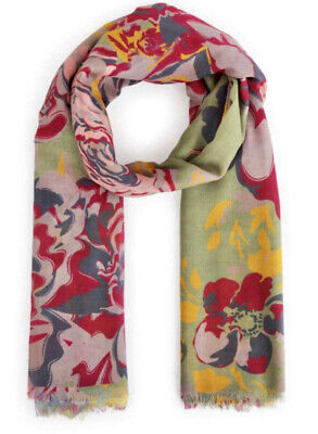 Powder | Winter Floral Print Designer Scarf BNWT And Gift Bag Christmas • 19.99£