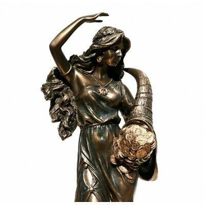 Tyche Luck Fortuna Greek Goddess Statue Sculpture Figurine Bronze Finish 11 In • 57.16£