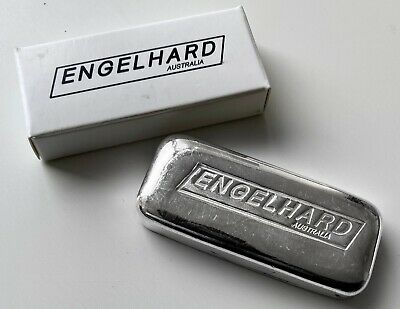 $ CDN279.95 • Buy Engelhard 5 Oz .999 Silver Poured Bar Australia - With Serial Number And Box
