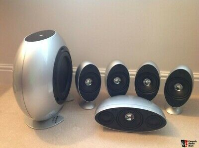 KEF HTS KHT 3001 3005 Htb2 Speaker Package Home Theatre Centre + Sub - SILVER • 250£