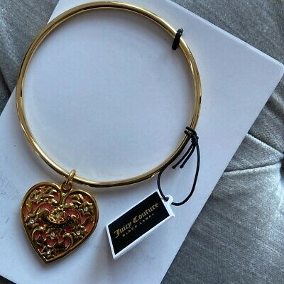 Brand New Juicy Couture Gold Heart Charm Bracelet • 25£
