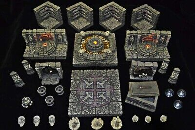 $ CDN379.67 • Buy Dwarven Forge Master Maze MM-48 Catacombs 2 Set Resin D&D Tiles PAINTED NEW