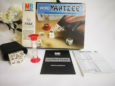 YAHTZEE WORD DICE GAME MB GAMES 1979 100% COMPLETE With INSTRUCTIONS • 11.75£