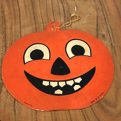$ CDN19.06 • Buy Vintage Halloween Die Cut, HE Luhrs Jack O Lantern, USA Made