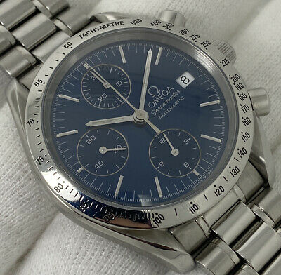 Gents Blue OMEGA Speedmaster Date Automatic Chronograph 39mm [3511.80] • 1,765£