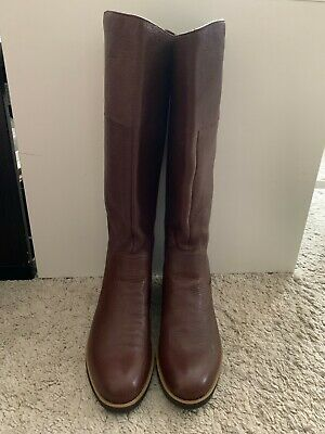 Rockport Brown Womans Knee High Leather Boots Size Uk 5 • 35£