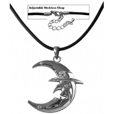 Witches Of Pendle Witches Moon  Necklace Swarovski Crystals Witch/pagan/ Occult • 9.99£