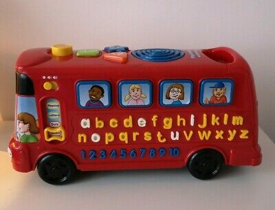 VTech Playtime Interactive Red Bus With Phonics Learning Toy • 7.99£