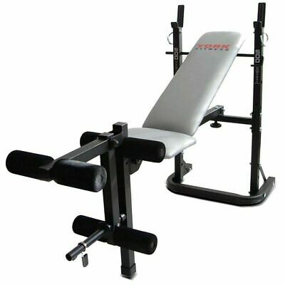 York B500 Adjustable 3 Position Flat Incline Barbell Dumbbell Weight Bench- Used • 90£