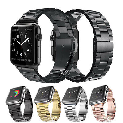 AU6.99 • Buy For Apple Watch Band Series 5 4 3 2 1 Stainless Steel Strap 38/42/40/44mm IWatch