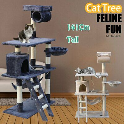 AU76.90 • Buy 1.4M Cat Tree Trees Scratching Post Scratcher House Furniture Wood Tower Condo