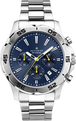 Accurist Gents Chronograph Watch With Blue Dial 7395 • 49.99£