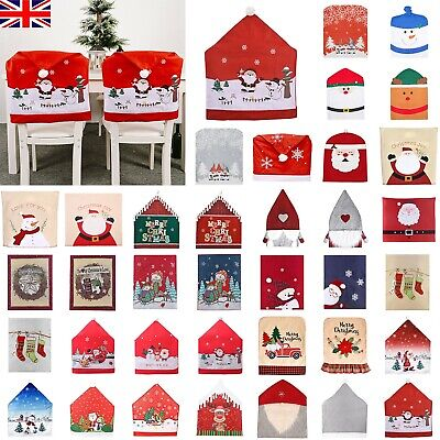 Christmas Chair Cover Banquet Dining Chair Back Seat Protector Xmas Home Decor • 7.43£