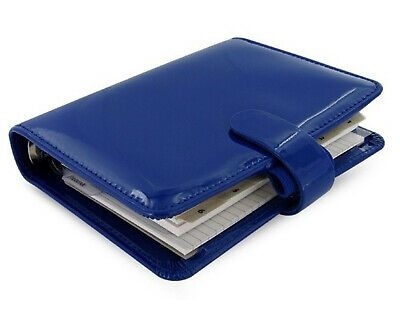 Filofax Patent Organiser Diary Compact Pocket Any Year Week View Notebook - Blue • 22.90£