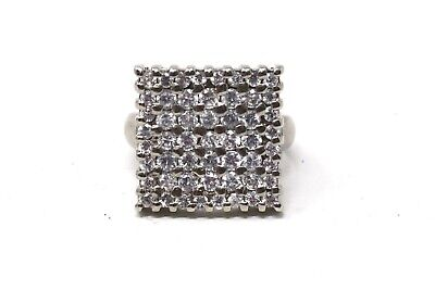 A Pretty Vintage Art Deco Style Sterling Silver 925 Cubic Zirconia Cluster Ring • 0.99£