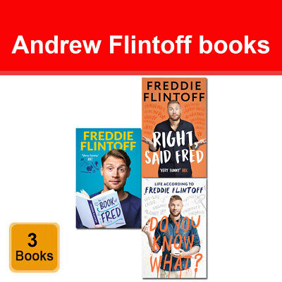 Andrew Flintoff 2 Books Collection Set Right Said Fred, Do You Know What? • 35.99£