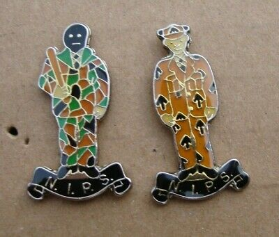 HMP Northern Ireland Prison Service BEFORE & AFTER Tie Tac Pin Badges • 4.71£