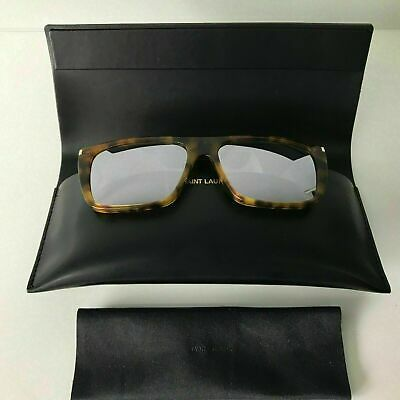New Ysl Saint Laurent Sunglasses Sl156 003 Havana /  Silver Mirrored Lenses  • 109.99£