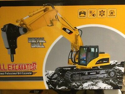 TR-218 Remote RC Construction Drill Digger Truck Radio Controlled Tractor Toy... • 30£
