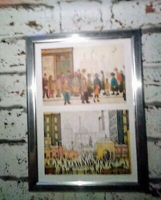 Ls Lowry.'Waiting For The Shops To Open' +'Coming From The Mill'.Budget Frame • 11.40£