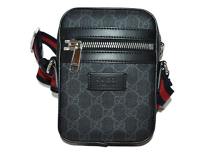 $ CDN1543.60 • Buy GUCCI GG Supreme Messenger Bag 598103 Black Canvas Shoulder Bag Small Cute Used