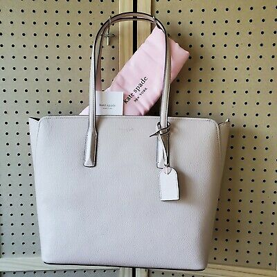 $ CDN186.64 • Buy NWT NEW Kate Spade Large Margaux Tote Handbag Leather In Pale Vellum W/ Dust Bag