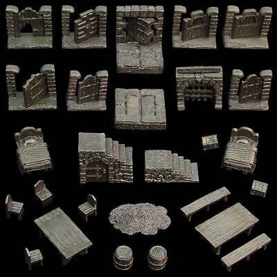 $ CDN75.83 • Buy Dwarven Forge Dungeon Dressing Pack GT1-AD04U D&D Tiles Terrain UNPAINTED NEW
