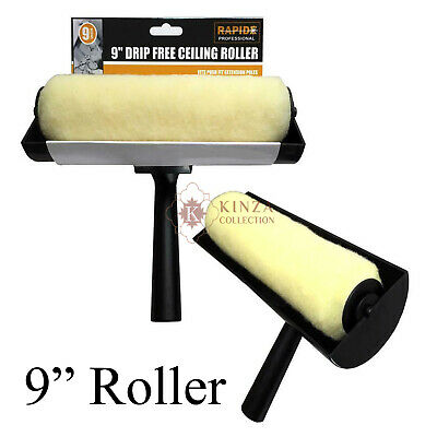 £7.95 • Buy 9  Ceiling Anti Non Drip Large Painting Paint Decorating Roller Guard Brush Tool