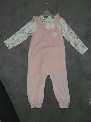 Next Baby Girl Beautiful Romper Dungaree Outfit Set 12-18 Months Bnwt • 10£