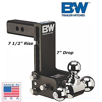 $ CDN338.74 • Buy B&W Tow & Stow Hitch Adjustable Tri Ball 7  Drop 7 1/2  Rise For 2  Receiver