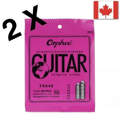 $ CDN10.99 • Buy 2 Packs Acoustic Guitar Strings For 6 String Guitar 🇨🇦 Seller