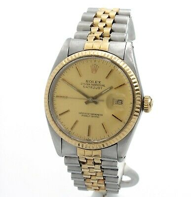 $ CDN3714.69 • Buy Rolex 16013 Oyster Perpetual Datejust Gents Wristwatch 18k & Ss Jubilee Nr #8974