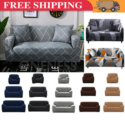 AU22.99 • Buy Sofa Covers 1/2/3/4 Seater High Stretch Lounge Slipcover Chair Protector Couch