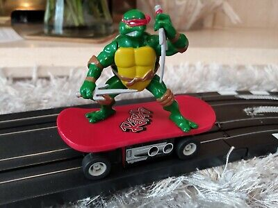 Micro Scalextric RAPHAEL Mutant Ninja Turtle EXCELLENT Condition. TESTED • 3.20£