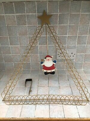 Santa Christmas Card Holder With Additional Door Hanger. Triangle Shape. • 3.49£