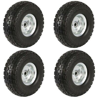 AU139.01 • Buy 4 PK Set Solid Rubber Replacement Tire Wheel Yard Cart Wagon Trolley 10  No Flat