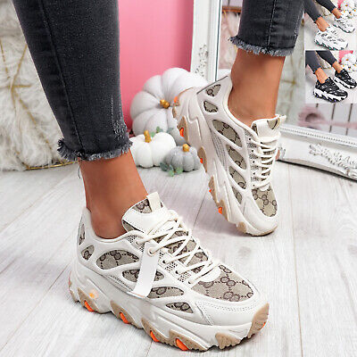 $ CDN28.97 • Buy Womens Ladies Chunky Trainers Platform Sneakers Party Women Shoes Size