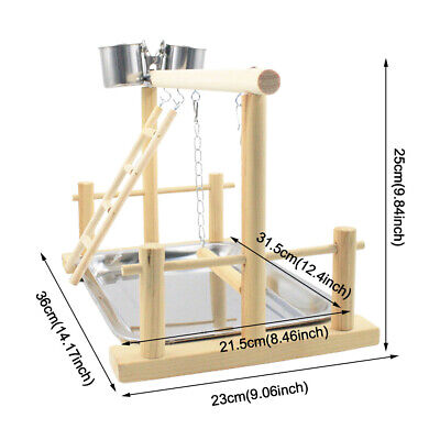 Easy Clean Standing Training Frame Funny With Food Tray Parrot Playstand Cage • 14.03£