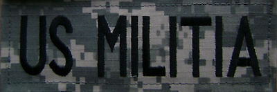 $6.99 • Buy  JUMBO ACU US MILITIA  TAPE /PATCH 2 X 5 Inches With HOOK FASTENER