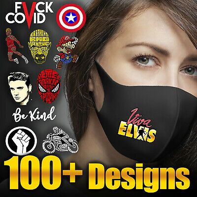 Face Mask Washable Funny Design Reusable Breathable Protection Cover Gift • 5.99£