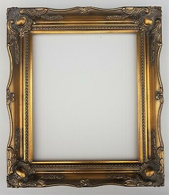 £33.99 • Buy 12 X10  Gold Ornate Antique Shabby Chic Swept Baroque Rococo Frame Glass & Back