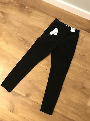 Topshop Joni Black Cord Jeans Size 8 W26 L30 NEW WITH TAGS • 28£