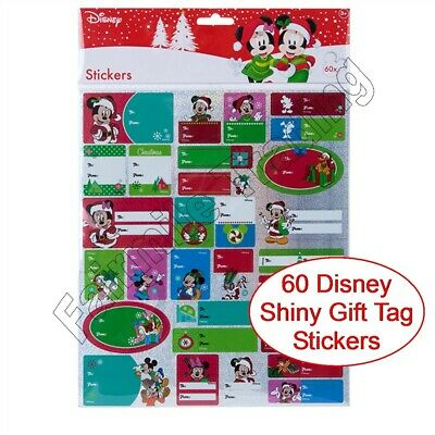 £2.49 • Buy 60 Disney Christmas Gift Tag Stickers Labels Present Name Mickey Minnie Mouse