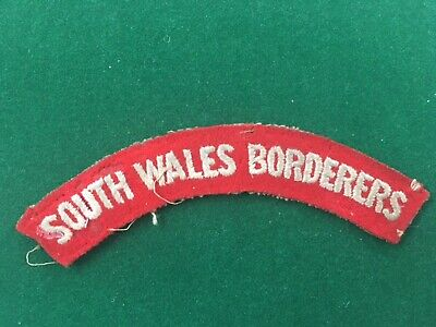Badge Insignia Patch Ww2 British Shoulder Title - South Wales Borderers • 6£
