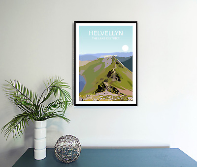 Helvellyn Art Print,The Lake District National Park Landscape,Cumbria Fell Hike • 9.99£