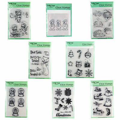 Christmas Clear Stamps Silicone Cling Scrapbook Card Making DIY Craft Decor • 4.99£