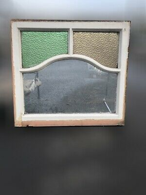£90 • Buy Reclaimed Art Deco Stained Glass Wooden Panel Window