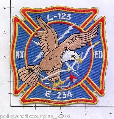 AU5.05 • Buy New York City NY Fire Dept Engine 234 Ladder 123 Patch V4